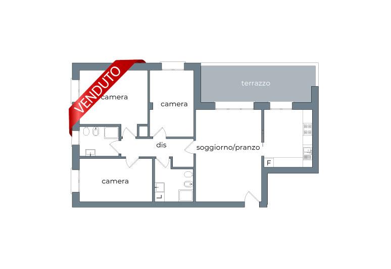 Appartamento 5 Locali Venduto