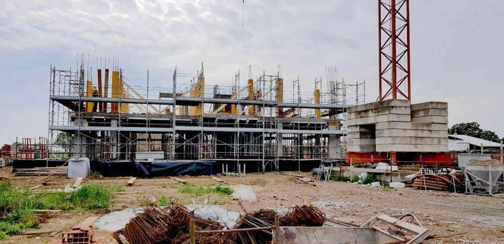 Innalzamento pilastri 2° piano - Aprile 2019